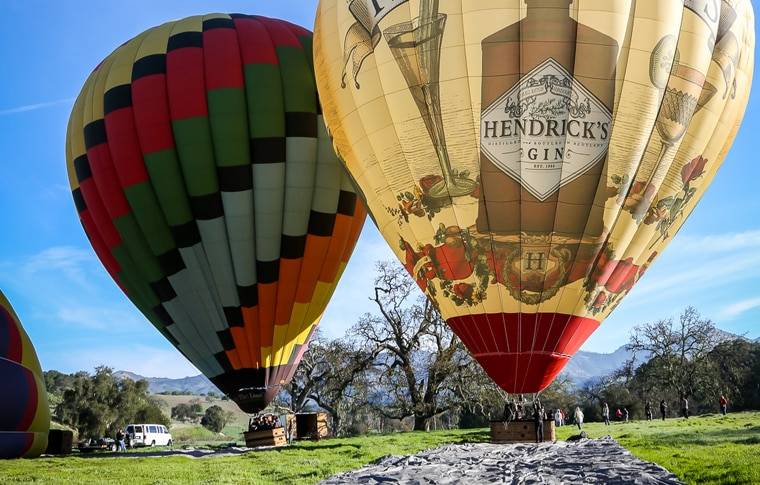 Santa Barbara Hot Air Balloon Rides - Sky's The Limit ...